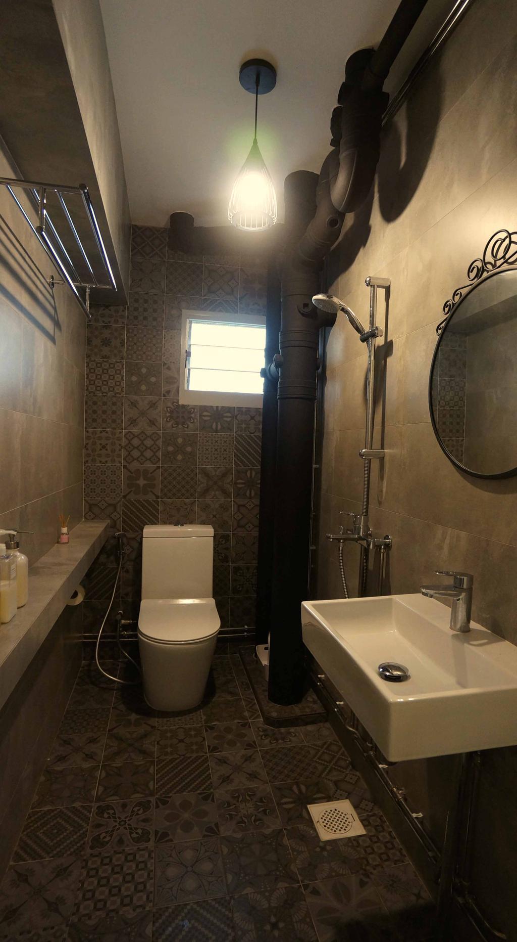 Contemporary, HDB, Bathroom, Cantonment Close, Interior Designer, Space Atelier