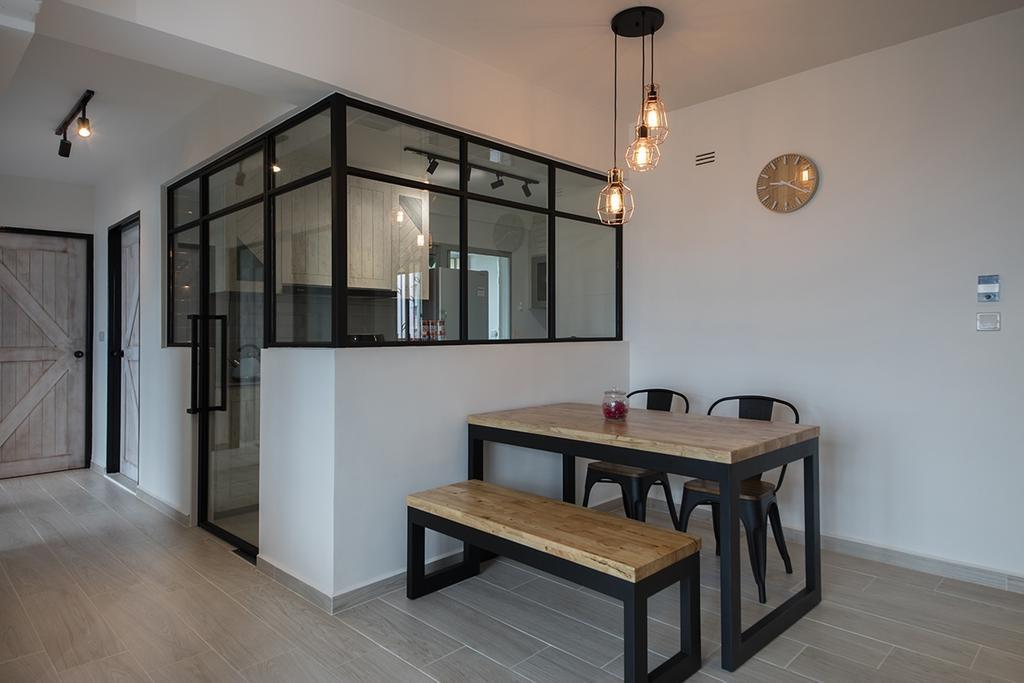 Minimalistic, HDB, Dining Room, Clementi Ridges (Block 312C), Interior Designer, Aart Boxx Interior, Flooring, Dining Table, Furniture, Table, Indoors, Interior Design, Room, Chair