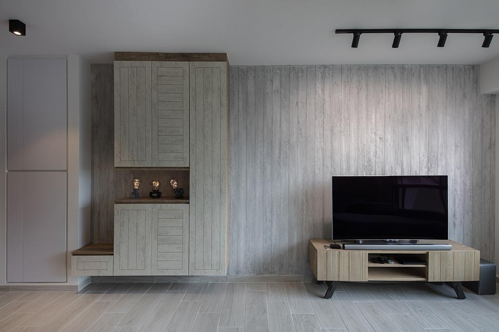 Minimalistic, HDB, Living Room, Clementi Ridges (Block 312C), Interior Designer, Aart Boxx Interior, Indoors, Interior Design