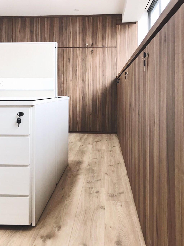 OKIO Office Space, Commercial, Interior Designer, Aart Boxx Interior, Contemporary, Hardwood, Wood