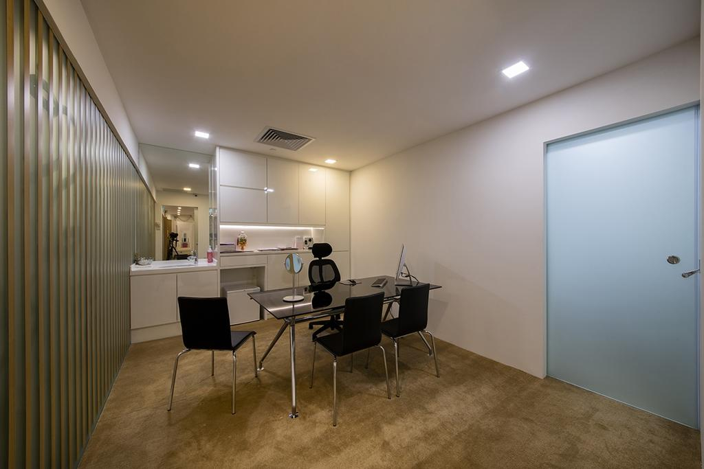 Commercial @ Mandarin Gallery, Commercial, Interior Designer, Aart Boxx Interior, Contemporary, HDB, Building, Housing, Indoors, Dining Table, Furniture, Table, Chair, Interior Design, Kitchen, Room, Sink