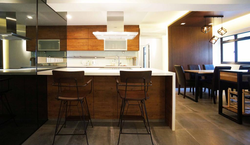 Contemporary, HDB, Kitchen, Cantonment Close, Interior Designer, Space Atelier