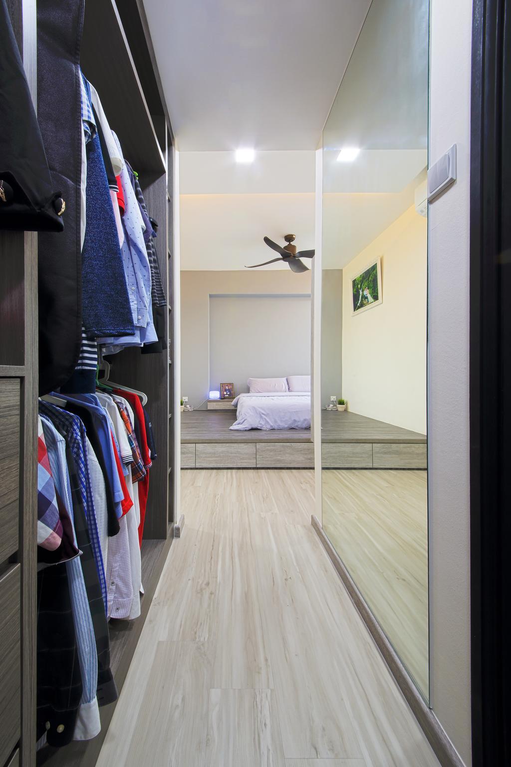 Modern, HDB, Bedroom, Rivervale Crest, Interior Designer, Dap Atelier, Minimalistic, Flooring