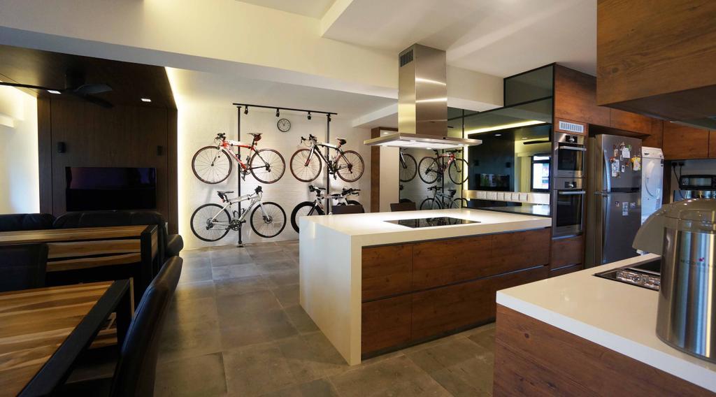 Contemporary, HDB, Living Room, Cantonment Close, Interior Designer, Space Atelier