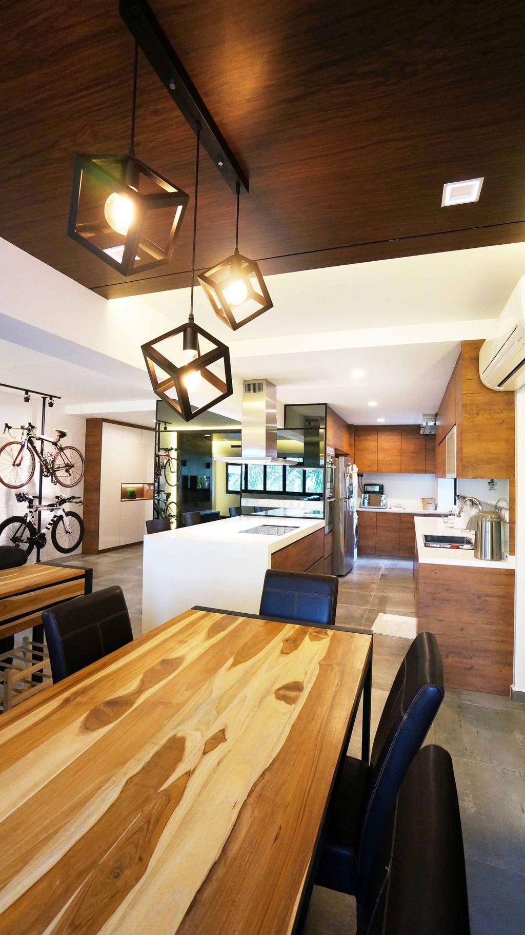 Contemporary, HDB, Dining Room, Cantonment Close, Interior Designer, Space Atelier
