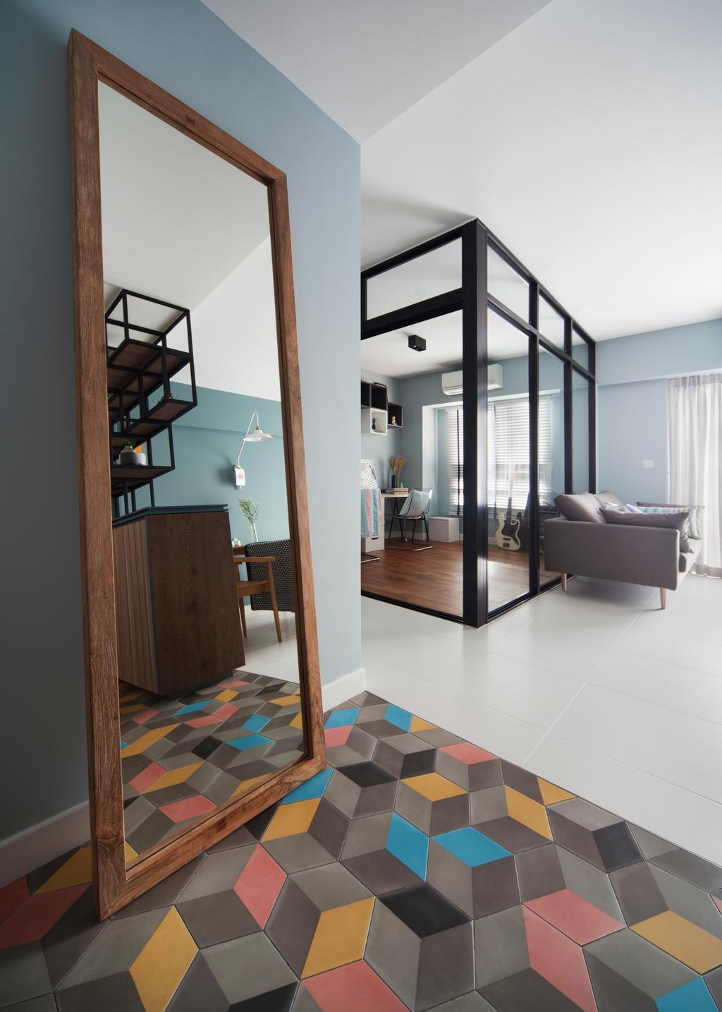 Eclectic, HDB, Living Room, Skyville@Dawson (Block 87), Interior Designer, The Scientist