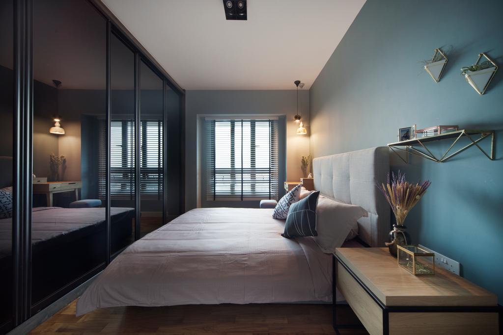 Eclectic, HDB, Bedroom, Skyville@Dawson (Block 87), Interior Designer, The Scientist, Couch, Furniture, Indoors, Interior Design, Room
