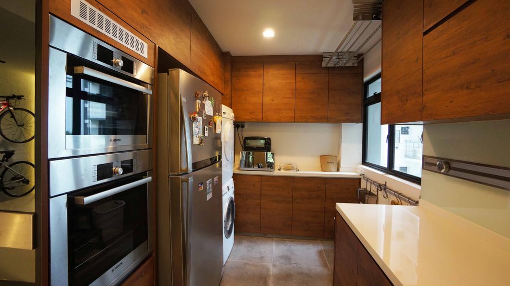 Contemporary, HDB, Kitchen, Cantonment Close, Interior Designer, Space Atelier