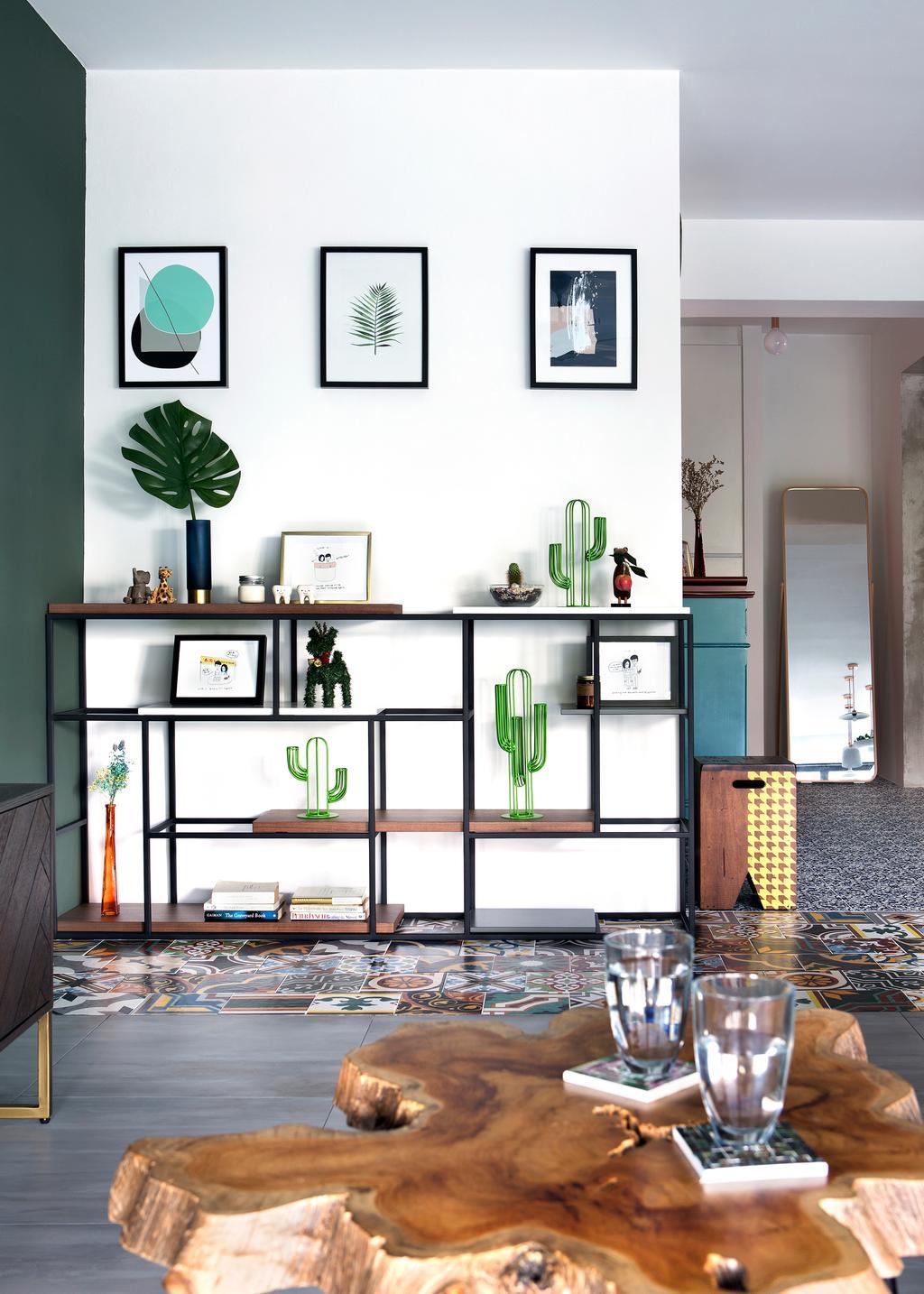 Eclectic, HDB, Living Room, Upper Serangoon Crescent (Block 473C), Interior Designer, The Scientist, Window