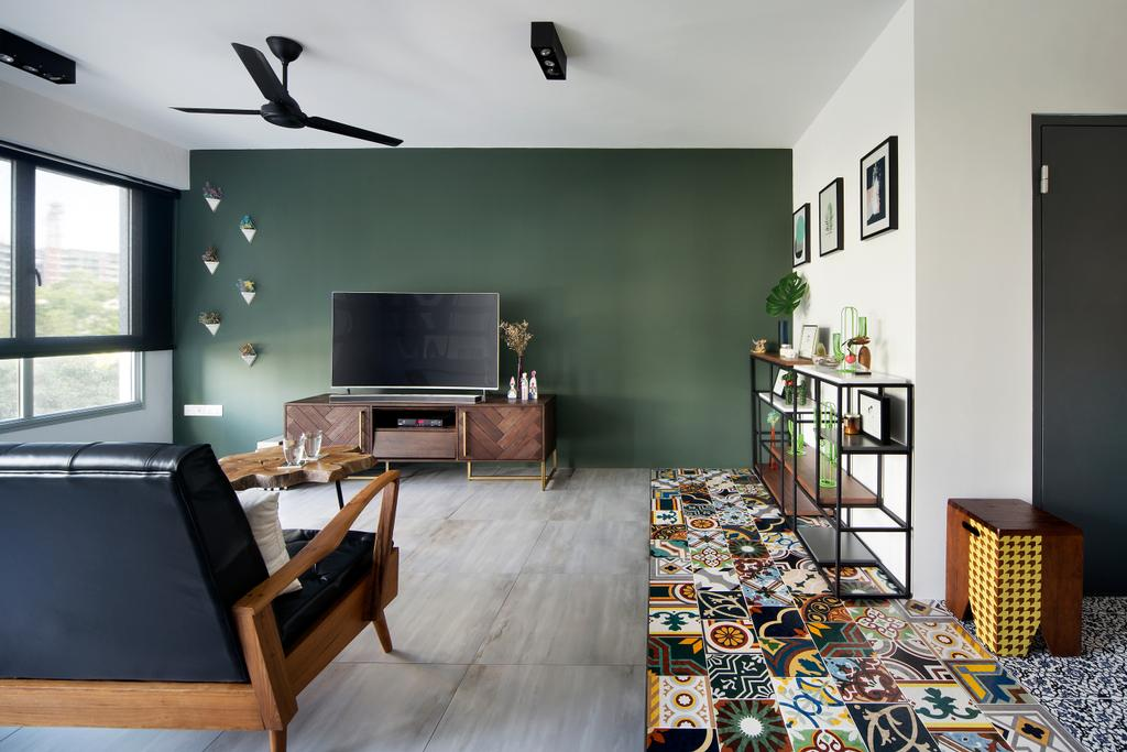 Eclectic, HDB, Living Room, Upper Serangoon Crescent (Block 473C), Interior Designer, The Scientist, Couch, Furniture, Chair