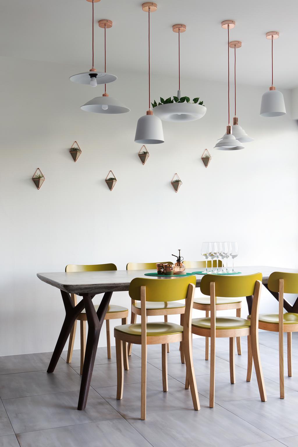 Eclectic, HDB, Dining Room, Upper Serangoon Crescent (Block 473C), Interior Designer, The Scientist, Dining Table, Furniture, Table, Indoors, Interior Design, Room, Chair