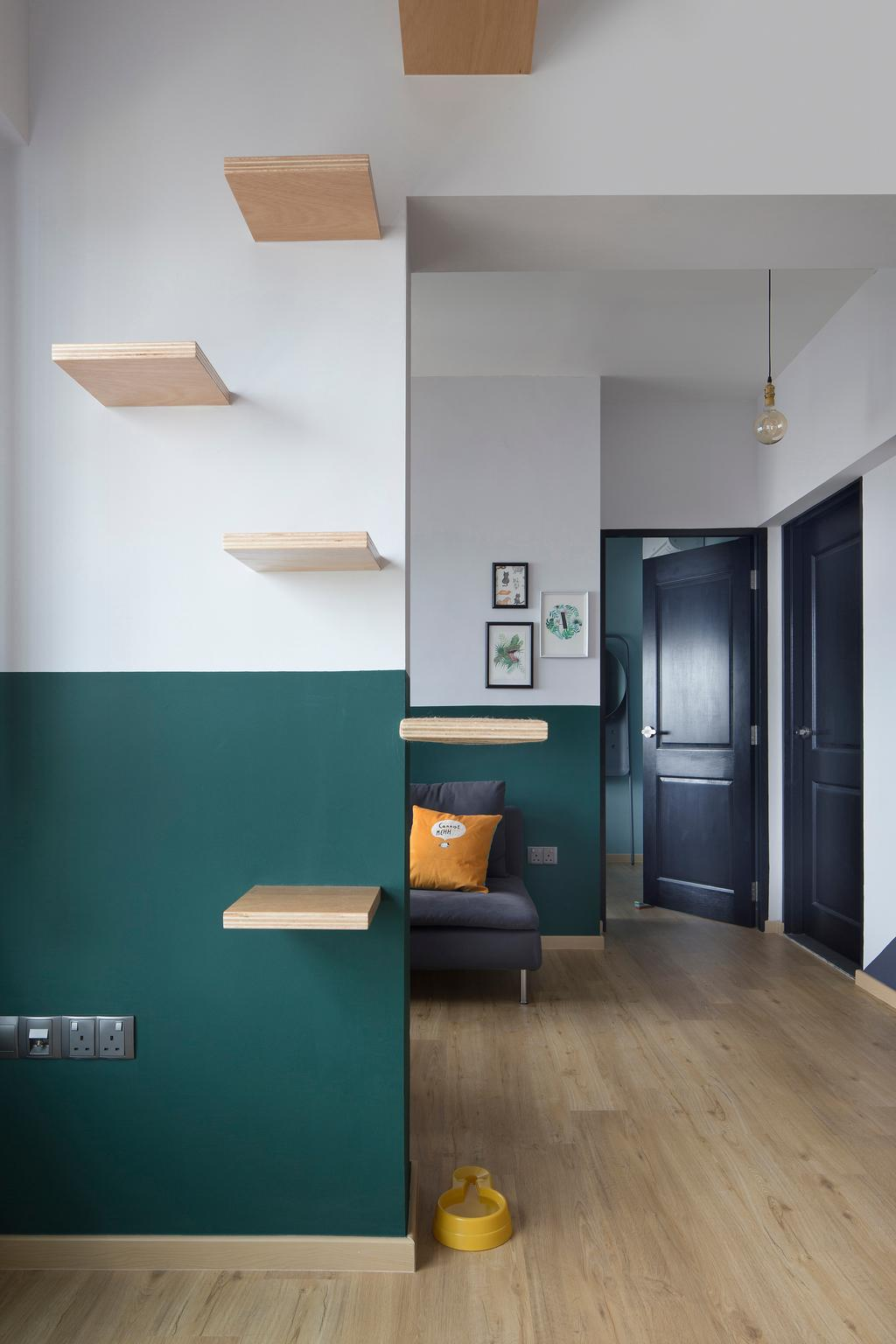 Eclectic, HDB, Living Room, Bendemeer Light, Interior Designer, The Scientist, Chair, Furniture, Shelf
