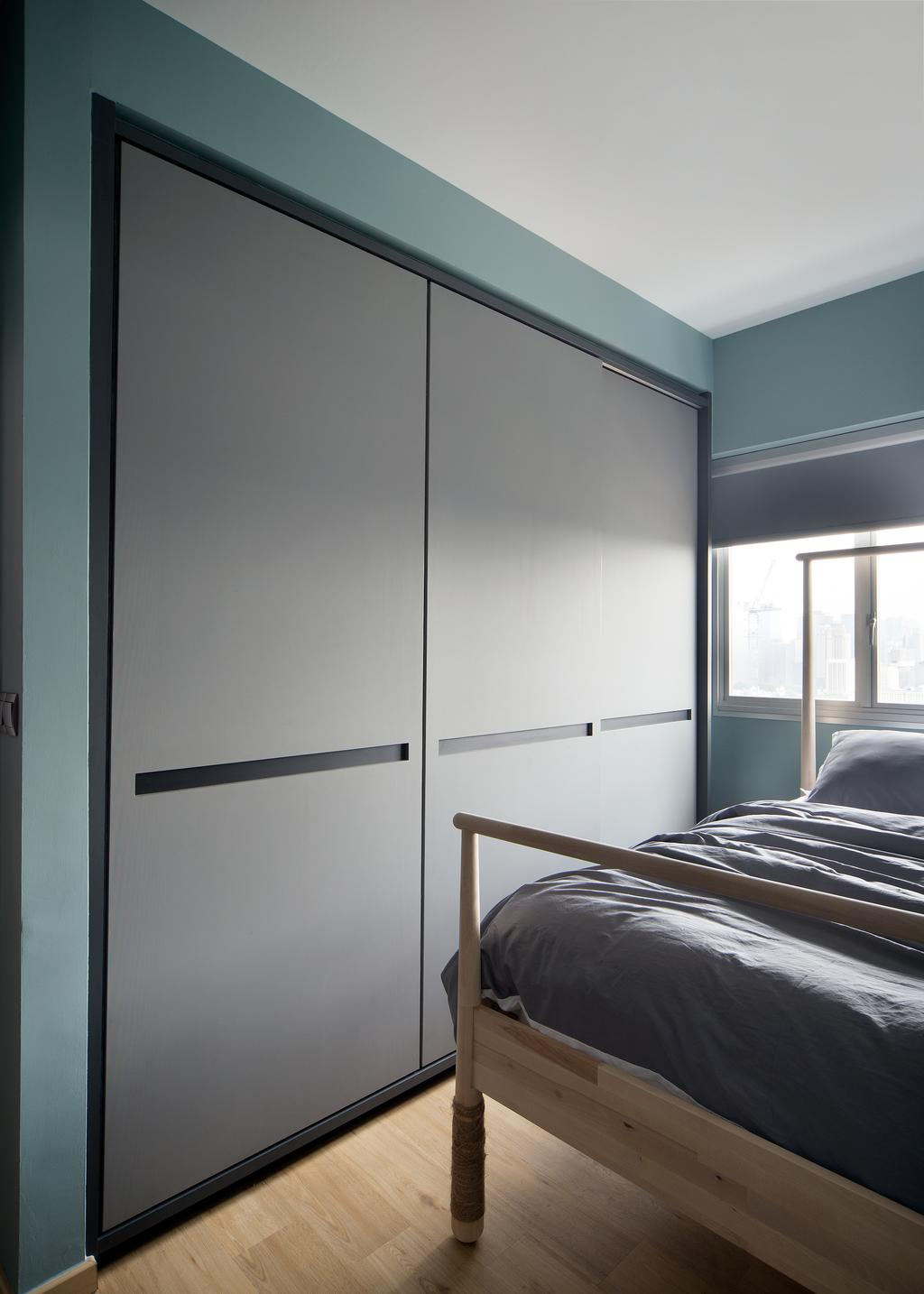 Eclectic, HDB, Bedroom, Bendemeer Light, Interior Designer, The Scientist, Bed, Furniture, Indoors, Interior Design, Room