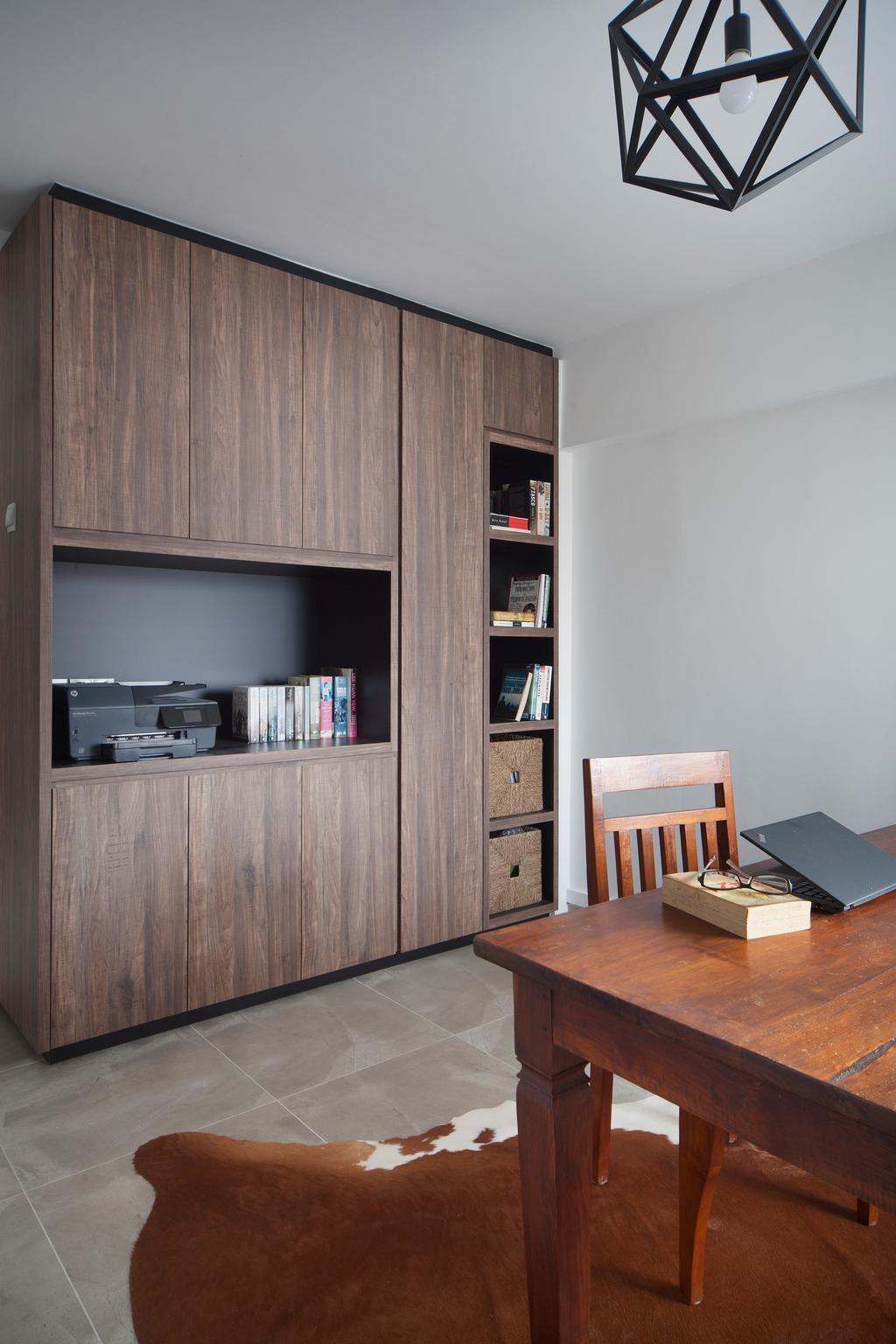 Eclectic, HDB, Study, Tampines Street 45 (Block 491E), Interior Designer, The Scientist, Bookcase, Furniture