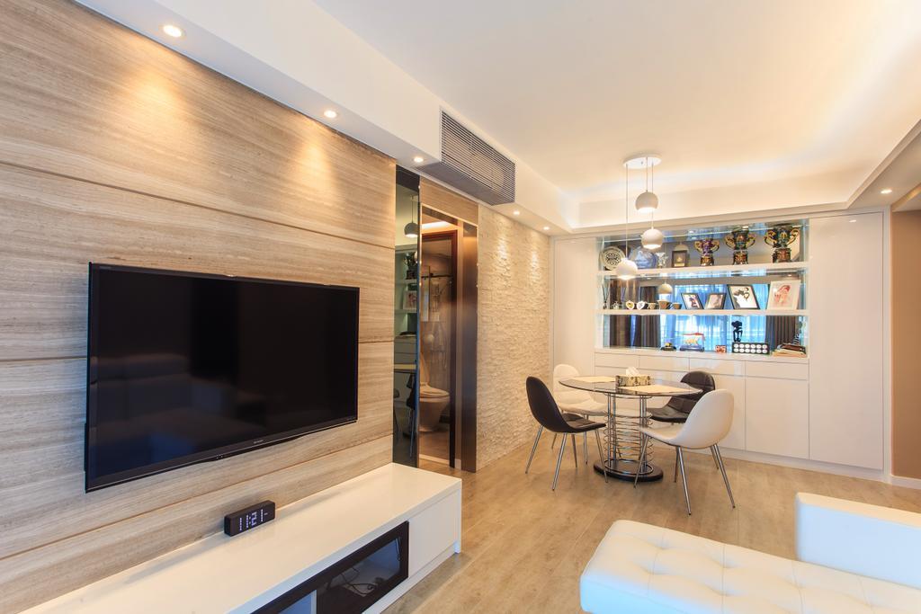 摩登, 私家樓, 客廳, 泓景臺, 室內設計師, Homing Interior Design, Indoors, Interior Design