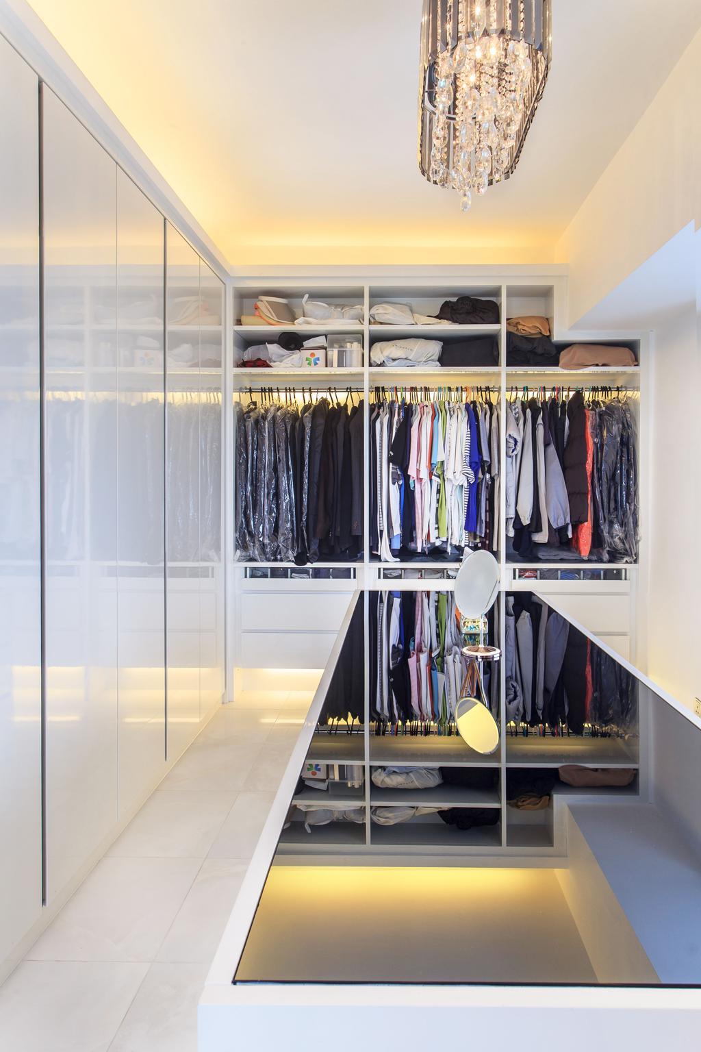 私家樓, 睡房, 華景山莊, 室內設計師, Homing Interior Design, Closet