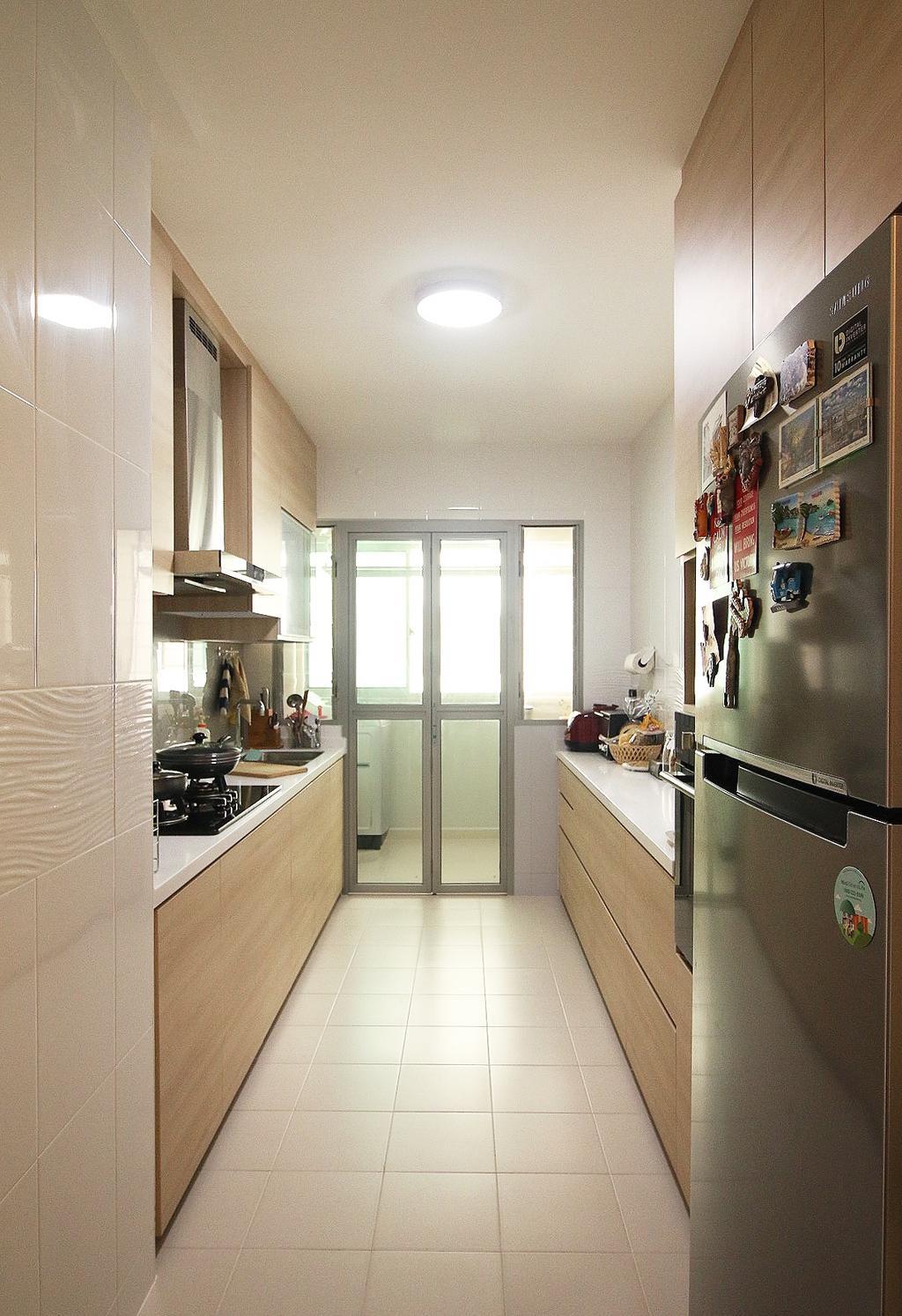 Scandinavian, HDB, Kitchen, Fajar Road (Blk 443B), Interior Designer, ChanInteriors, Sink, Appliance, Electrical Device, Oven, Indoors, Interior Design, Room