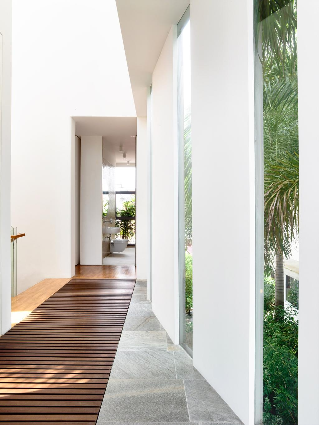 Contemporary, Landed, Balcony, Eng Kong Gardens, Architect, HYLA Architects, Door, Sliding Door, Banister, Handrail, Staircase, Bamboo, Flora, Plant