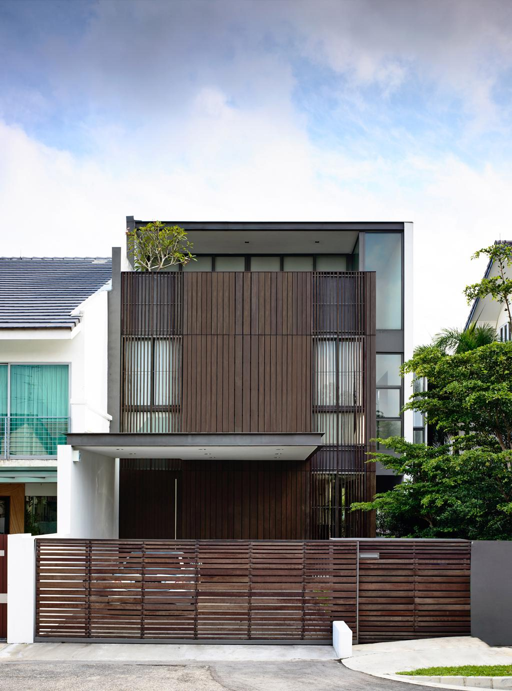 Contemporary, Landed, Eng Kong Gardens, Architect, HYLA Architects, Flora, Jar, Plant, Planter, Potted Plant, Pottery, Vase, Building, House, Housing, Villa, Conifer, Tree, Yew, Balcony