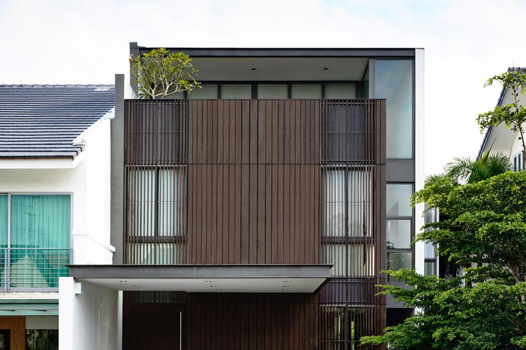 Eng Kong Gardens, HYLA Architects, Contemporary, Landed, Flora, Jar, Plant, Planter, Potted Plant, Pottery, Vase, Building, House, Housing, Villa, Conifer, Tree, Yew, Balcony