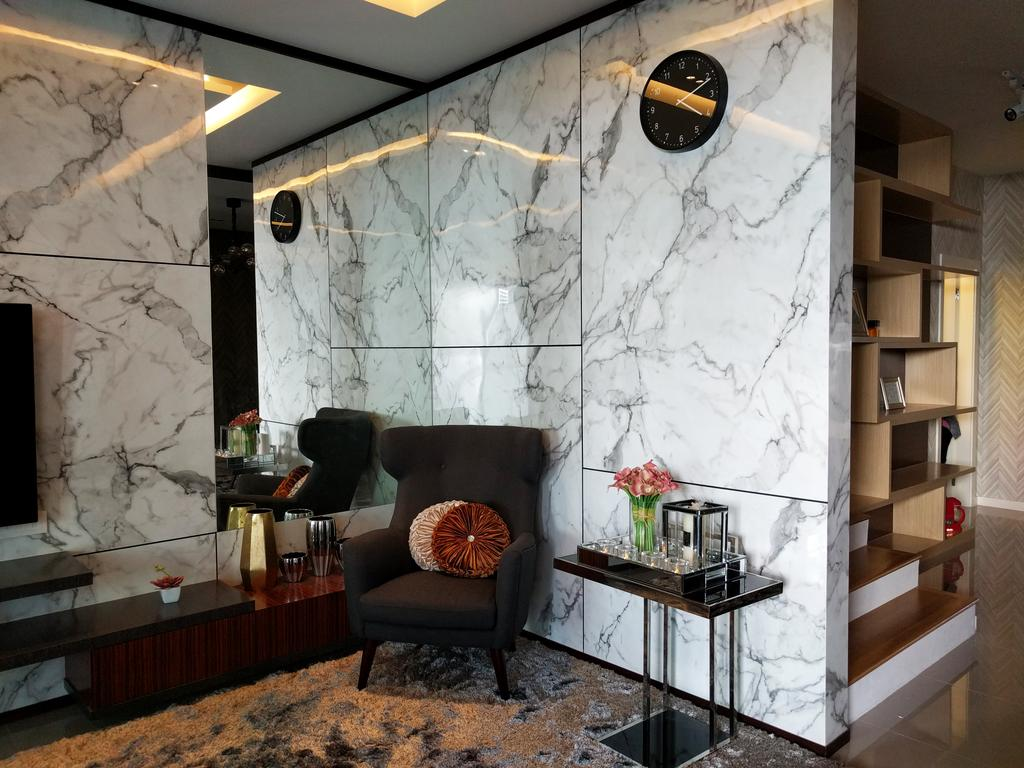 Contemporary, Landed, Desiran Bayu Kuala Lumpur, Interior Designer, EA Alam Reka, Chair, Furniture, Balcony, Bookcase, Couch, Apartment, Building, Housing, Indoors, Loft, Shelf