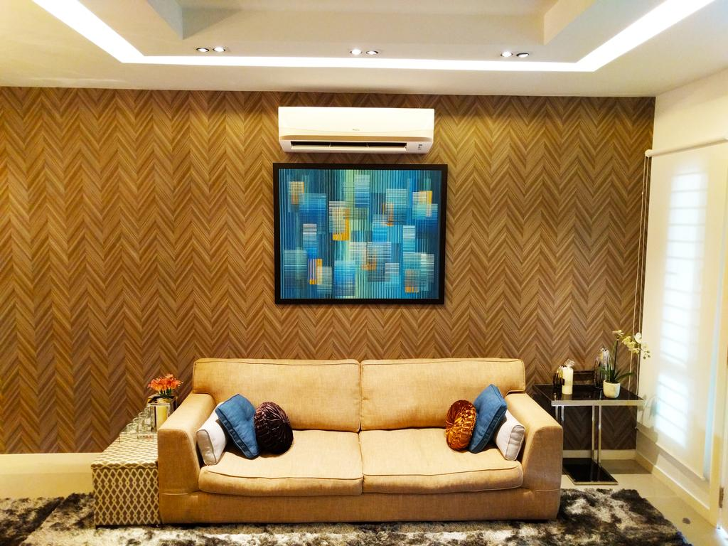 Contemporary, Landed, Living Room, Desiran Bayu Kuala Lumpur, Interior Designer, EA Alam Reka, Couch, Furniture, Indoors, Room