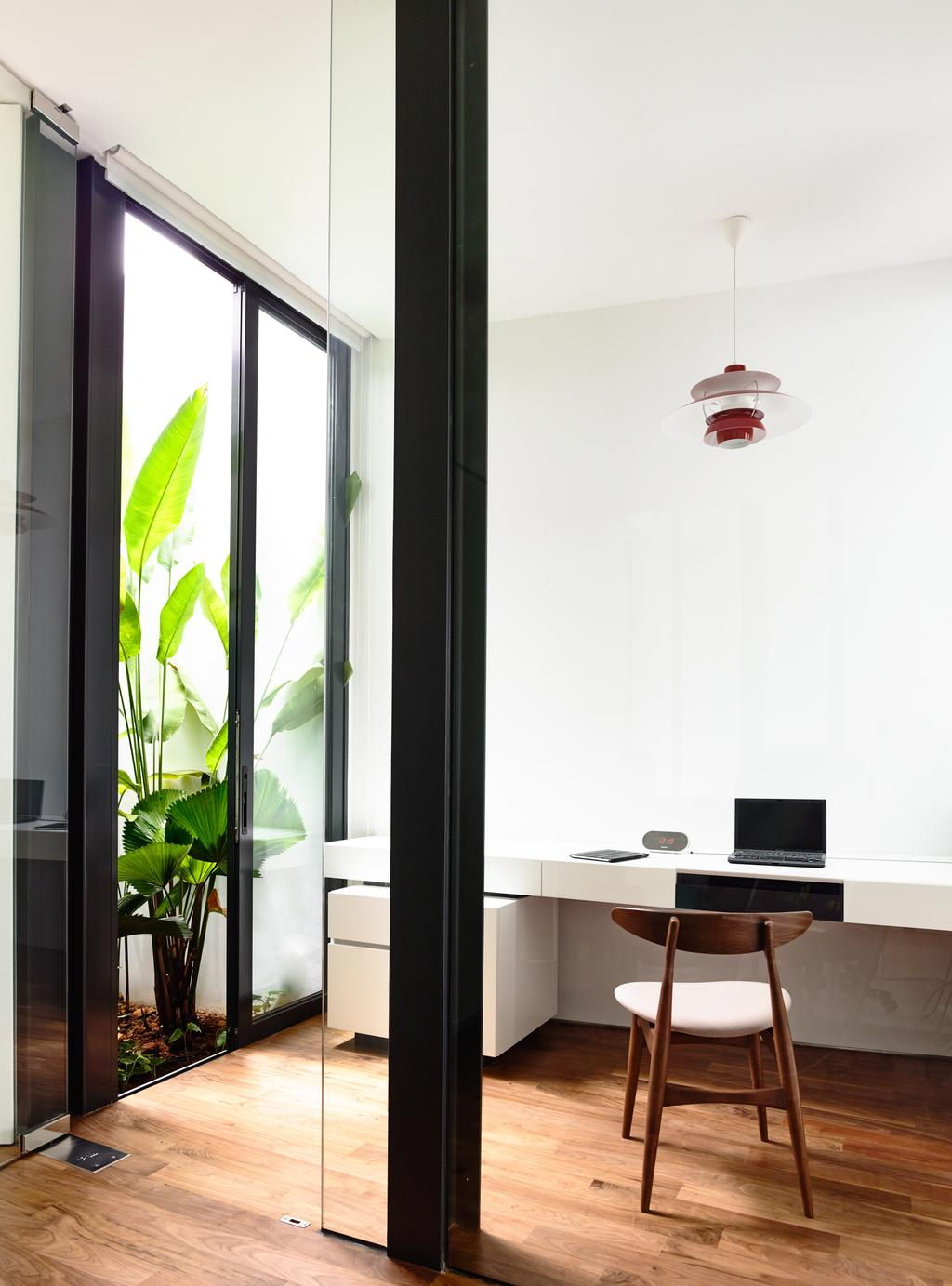 Contemporary, Landed, Study, Faber Terrace, Architect, HYLA Architects, Flora, Jar, Plant, Potted Plant, Pottery, Vase, Dining Table, Furniture, Table, Desk