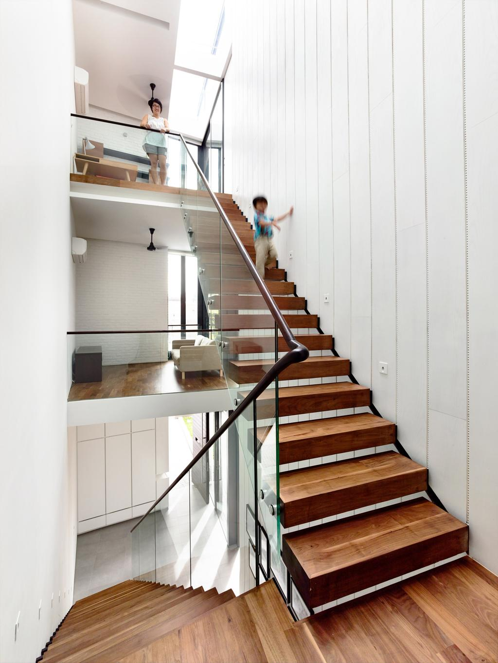 Contemporary, Landed, Faber Terrace, Architect, HYLA Architects, Banister, Handrail, Staircase, HDB, Building, Housing, Indoors, Loft