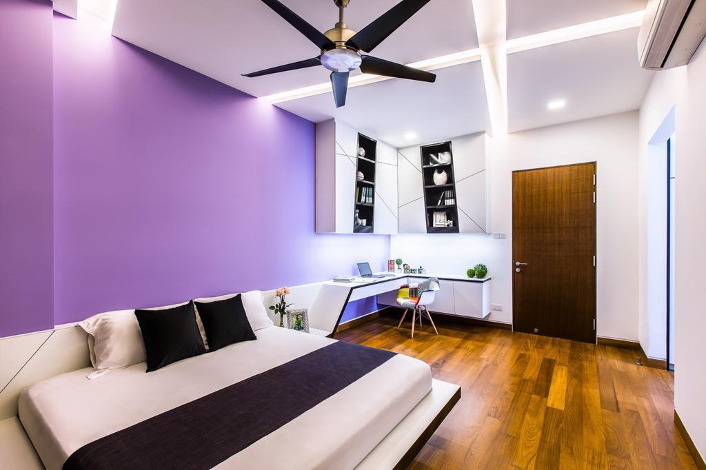Modern, Landed, Bedroom, Trevose Crescent, Interior Designer, Summerhaus D'zign, Contemporary, Indoors, Interior Design