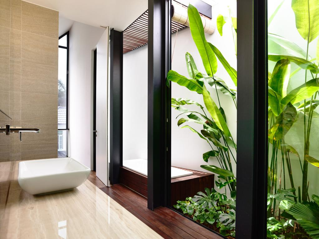 Contemporary, Landed, Bathroom, Faber Terrace, Architect, HYLA Architects, Flora, Jar, Plant, Potted Plant, Pottery, Vase, Bathtub, Tub, Herbs, Planter