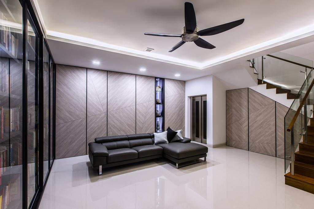 Modern, Landed, Living Room, Trevose Crescent, Interior Designer, Summerhaus D'zign, Contemporary, Indoors, Interior Design
