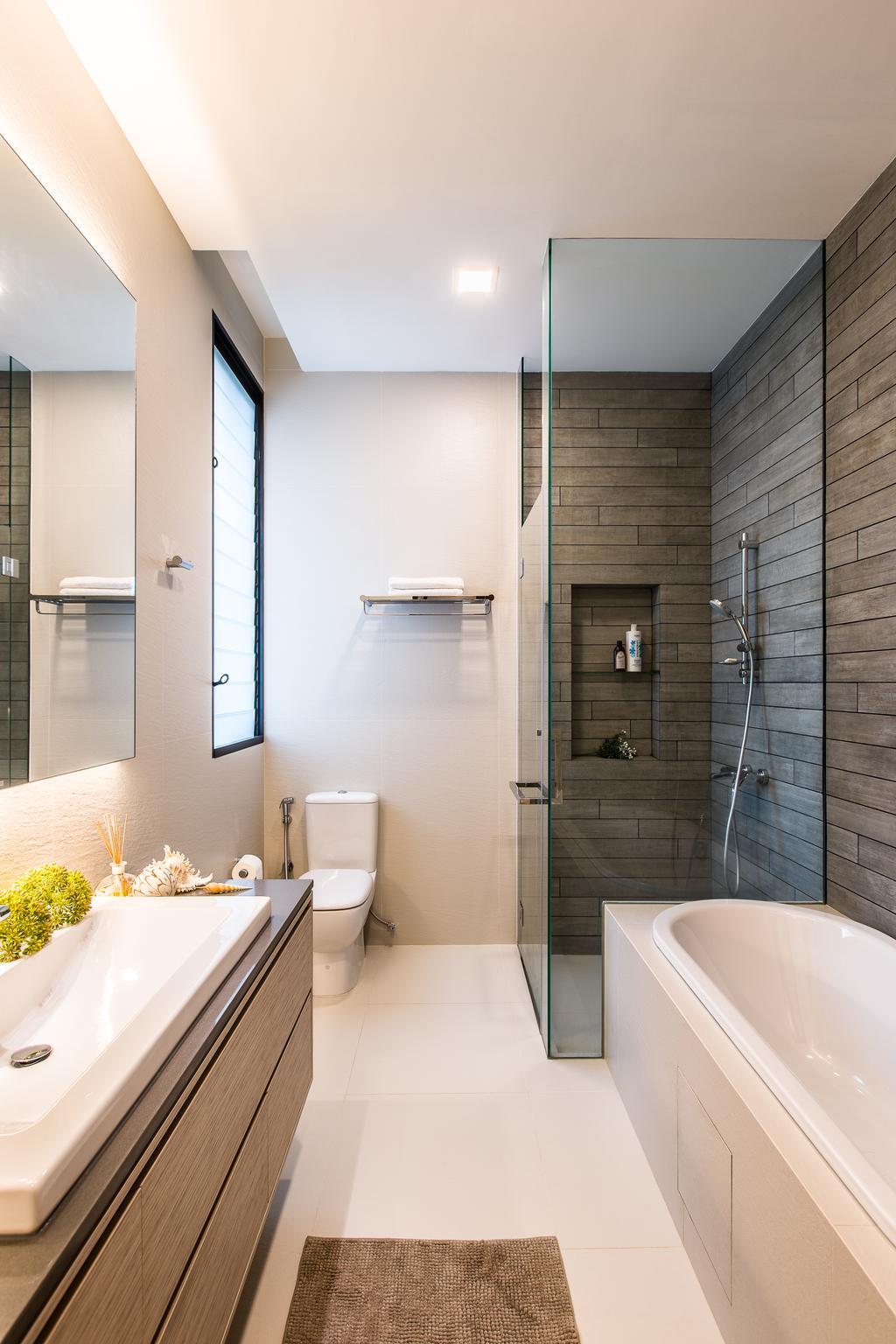 Modern, Landed, Trevose Crescent, Interior Designer, Summerhaus D'zign, Contemporary, Toilet, Bathroom, Indoors, Interior Design, Room