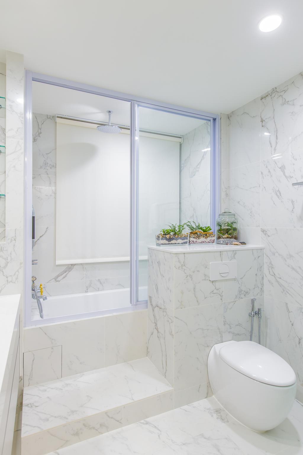 Modern, Condo, Bathroom, The Tessarina, Interior Designer, Summerhaus D'zign, Flora, Jar, Plant, Planter, Potted Plant, Pottery, Vase