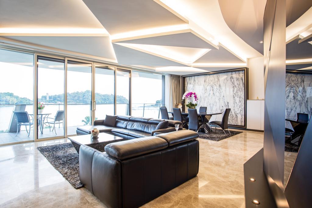 Modern, Condo, Living Room, Corals at Keppel Bay, Interior Designer, Summerhaus D'zign, Couch, Furniture, Indoors, Interior Design