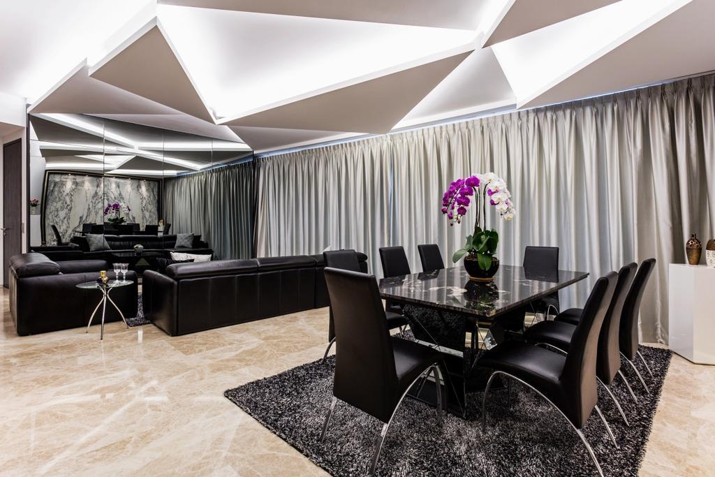 Modern, Condo, Dining Room, Corals at Keppel Bay, Interior Designer, Summerhaus D'zign, Chair, Furniture, Indoors, Interior Design, Room