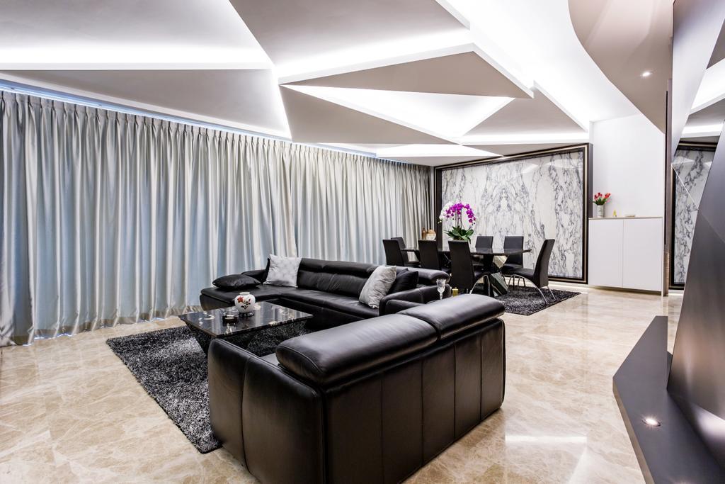 Modern, Condo, Living Room, Corals at Keppel Bay, Interior Designer, Summerhaus D'zign, Couch, Furniture, Indoors, Interior Design, HDB, Building, Housing, Room