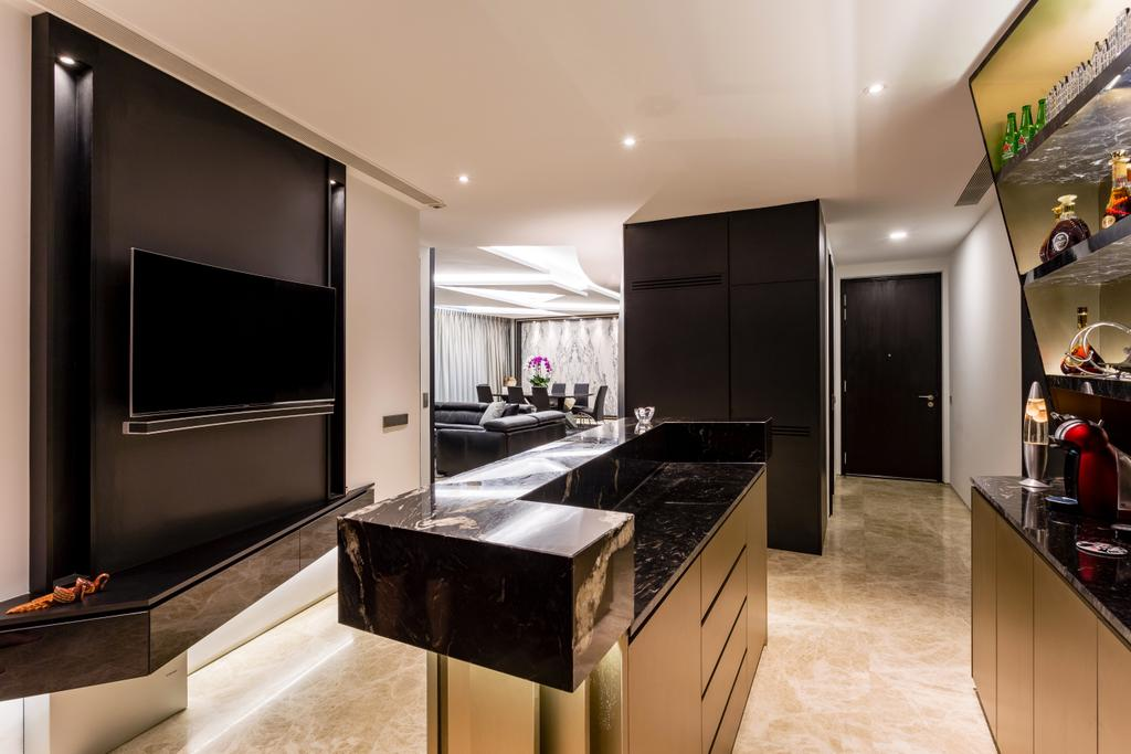Modern, Condo, Living Room, Corals at Keppel Bay, Interior Designer, Summerhaus D'zign, Indoors, Interior Design, Granite, Appliance, Electrical Device, Oven
