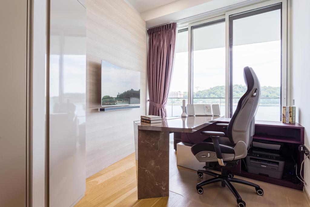 Modern, Condo, Study, Corals at Keppel Bay, Interior Designer, Summerhaus D'zign, Chair, Furniture, HDB, Building, Housing, Indoors