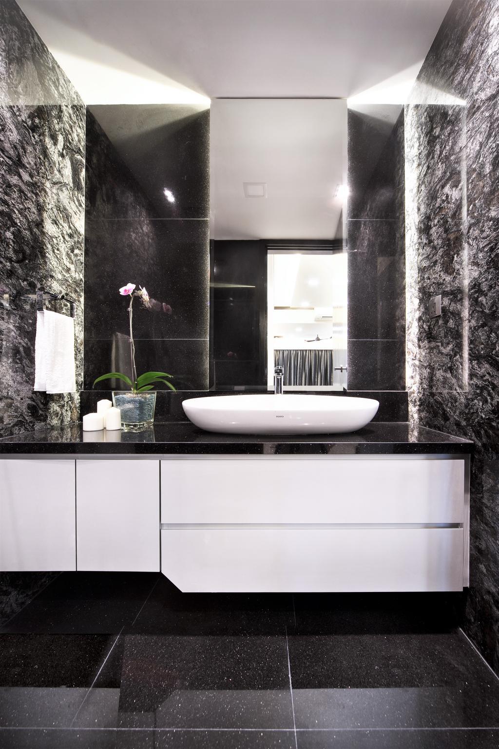 Modern, Condo, Bathroom, Maplewoods, Interior Designer, Summerhaus D'zign, Indoors, Interior Design, Room, Flora, Jar, Plant, Potted Plant, Pottery, Vase