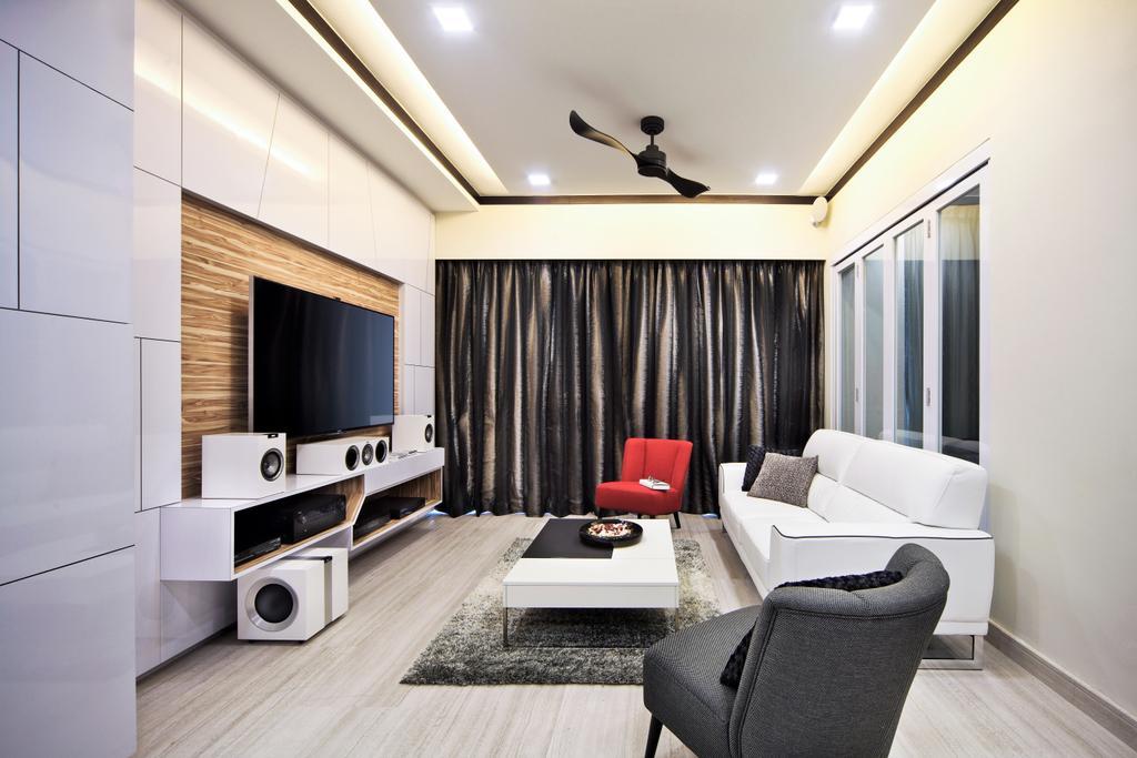 Modern, Condo, Living Room, Maplewoods, Interior Designer, Summerhaus D'zign, Chair, Furniture, Indoors, Interior Design, Couch, Room