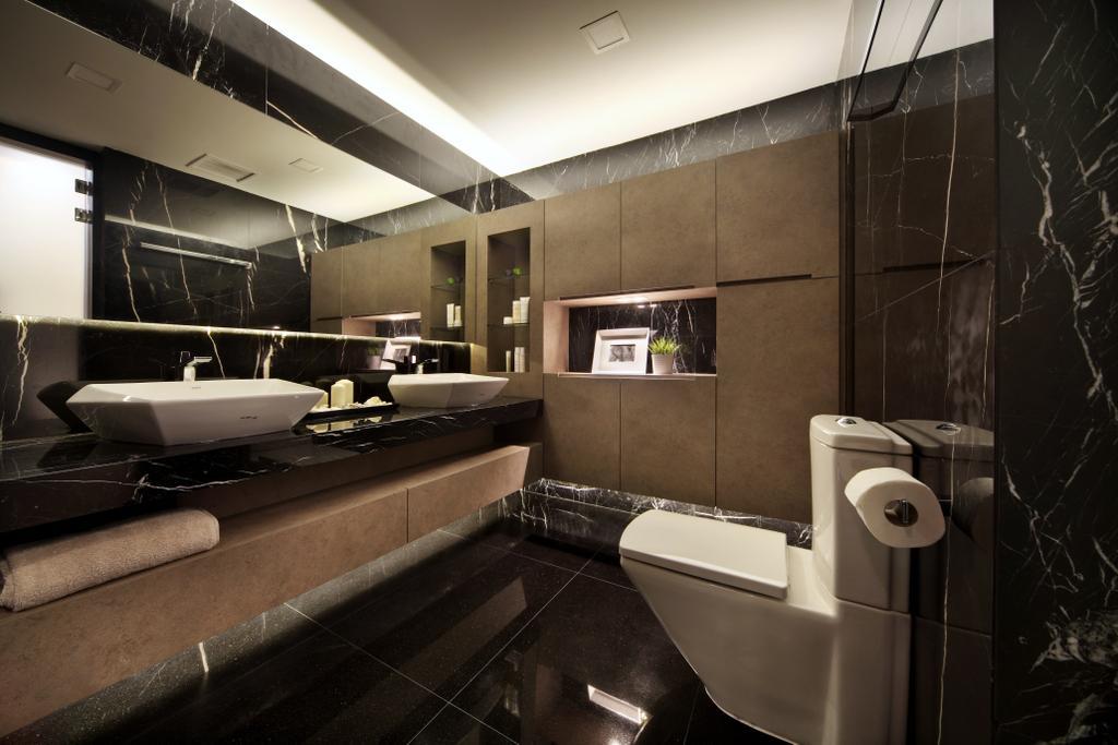 Modern, Condo, Bathroom, Maplewoods, Interior Designer, Summerhaus D'zign, Indoors, Interior Design, Room, Toilet