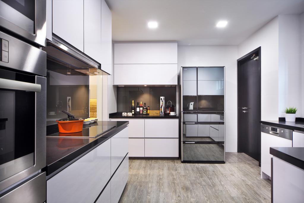 Modern, Condo, Kitchen, Maplewoods, Interior Designer, Summerhaus D'zign, Door, Sliding Door, Indoors, Interior Design, Room, Flooring