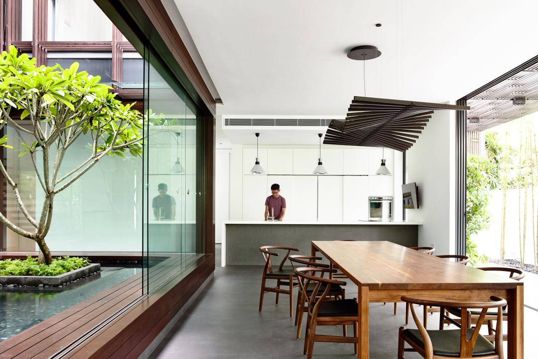 Greenbank Park, HYLA Architects, Contemporary, Kitchen, Landed, Dining Table, Furniture, Table, Flora, Jar, Plant, Potted Plant, Pottery, Vase, Gutter, Dining Room, Indoors, Interior Design, Room
