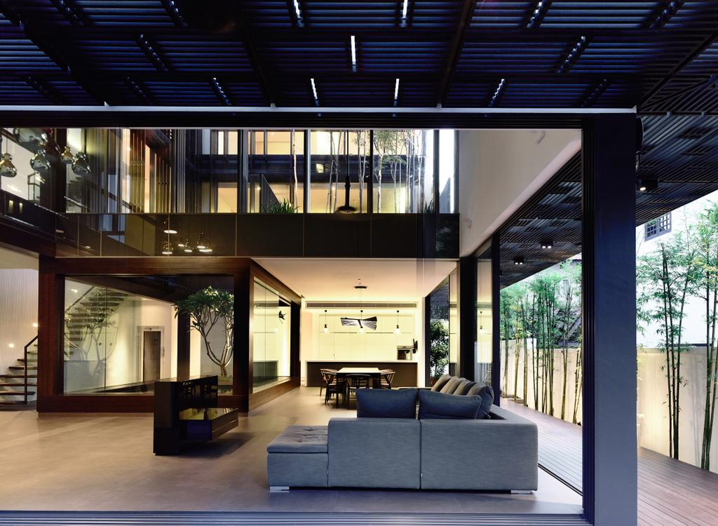 Contemporary, Landed, Living Room, Greenbank Park, Architect, HYLA Architects, Flora, Jar, Plant, Potted Plant, Pottery, Vase, Curtain, Home Decor, Window, Window Shade, Couch, Furniture, HDB, Building, Housing, Indoors, Loft