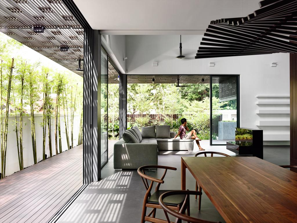 Contemporary, Landed, Dining Room, Greenbank Park, Architect, HYLA Architects, Dining Table, Furniture, Table, Chair, Couch, Indoors, Interior Design, Room, Porch
