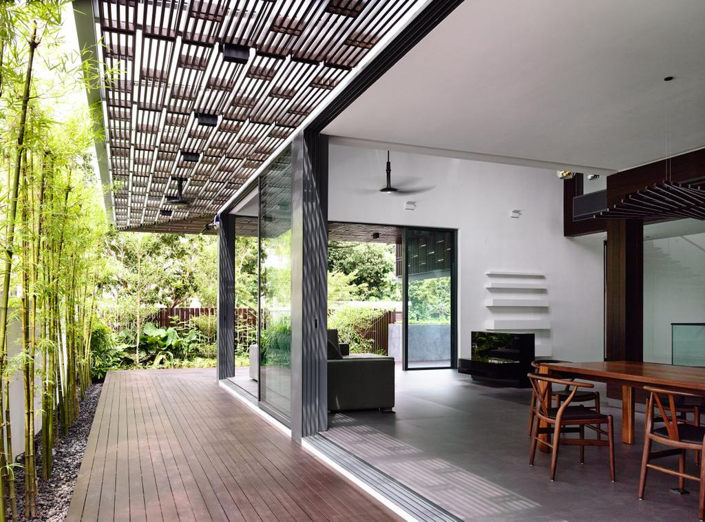 Contemporary, Landed, Balcony, Greenbank Park, Architect, HYLA Architects, Dining Table, Furniture, Table