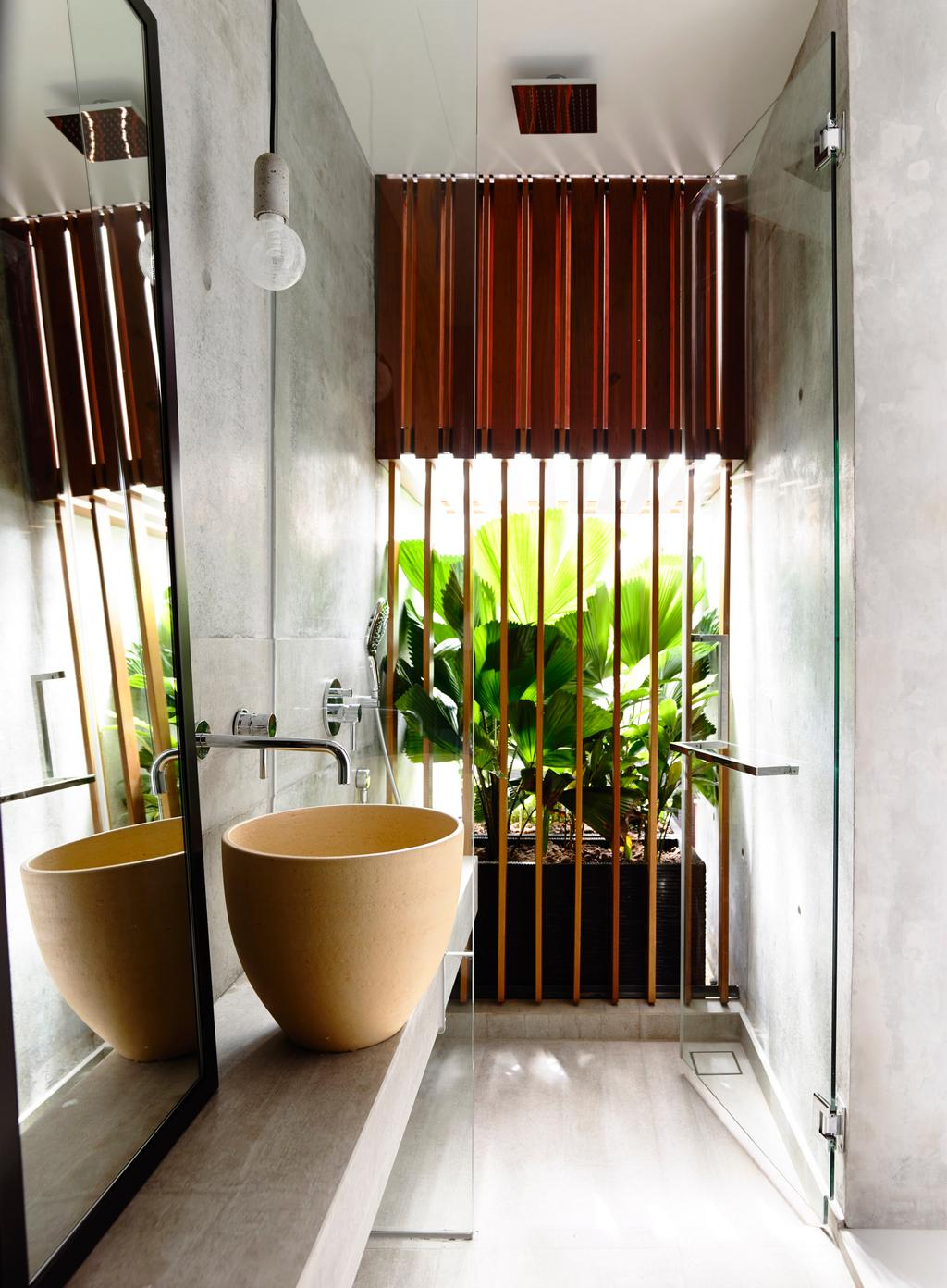 Contemporary, Landed, Bathroom, Belimbing Avenue, Architect, HYLA Architects, Sink, Flora, Jar, Plant, Potted Plant, Pottery, Vase