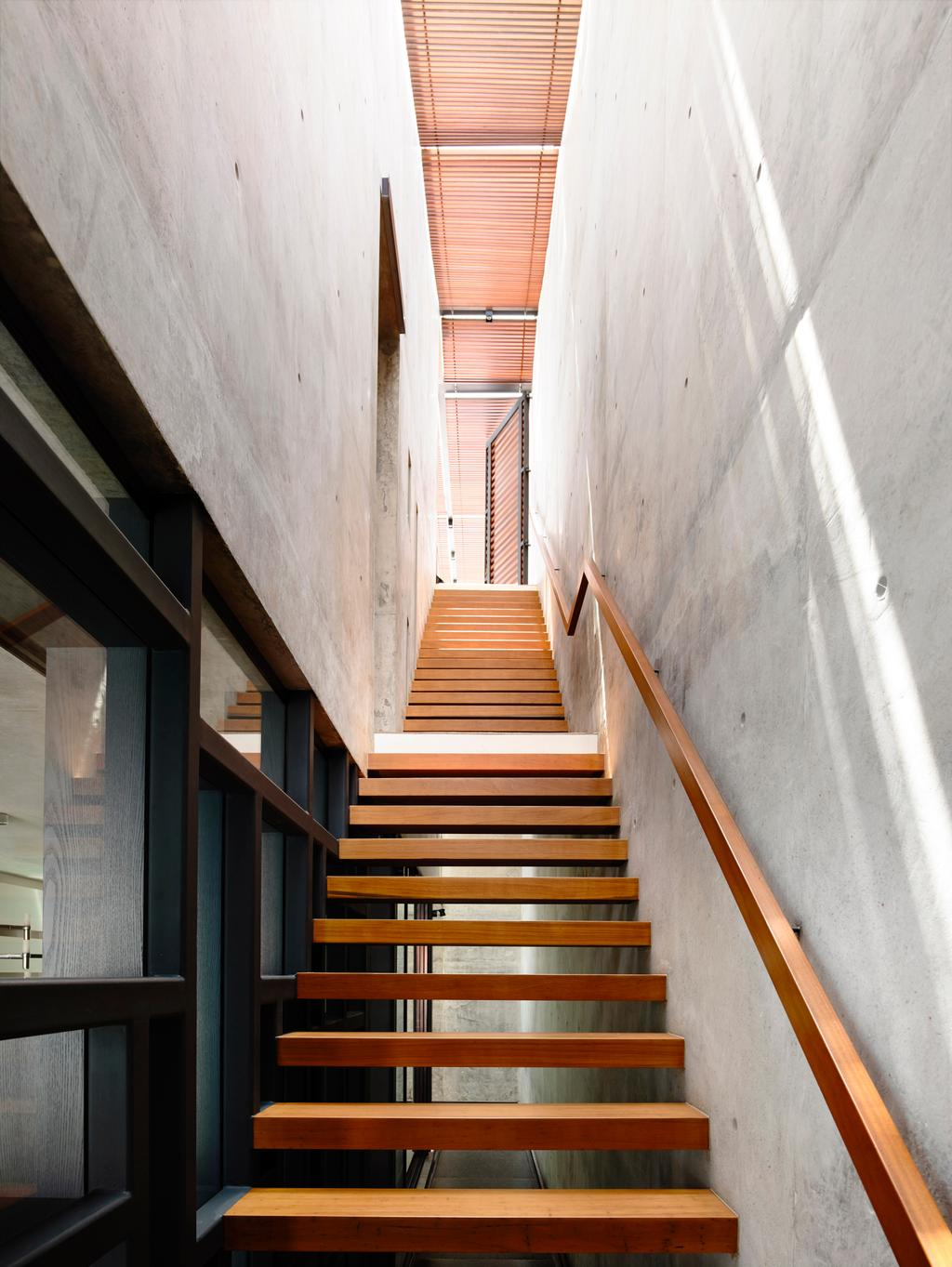 Contemporary, Landed, Belimbing Avenue, Architect, HYLA Architects, Banister, Handrail, Staircase