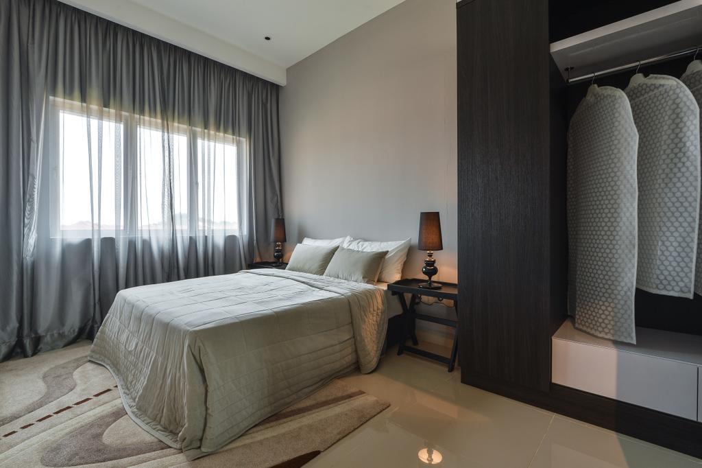 Modern, Condo, Kiara Court, Nilai Impian, Interior Designer, SQFT Space Design Management, Contemporary, Bed, Furniture, Bedroom, Indoors, Interior Design, Room