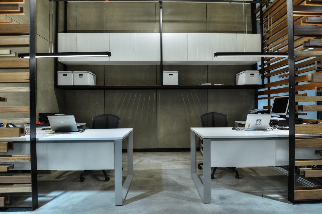 PJ Trade Centre, Damansara Utama, SQFT Space Design Management, Industrial, Minimalistic, Contemporary, Commercial, Desk, Furniture, Table